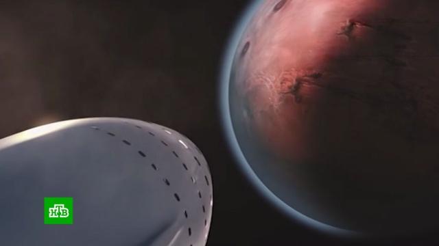 Илон Маск анонсировал первый полет на Марс вследующем году.Илон Маск, Марс, деловые новости.НТВ.Ru: новости, видео, программы телеканала НТВ