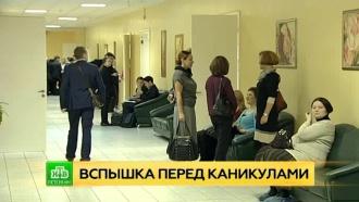 Школьные каникулы вПетербурге начинаются раньше <nobr>из-за</nobr> вспышки ОРВИ