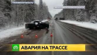 Пострадавшие в ДТП под Псковом получили травмы головы