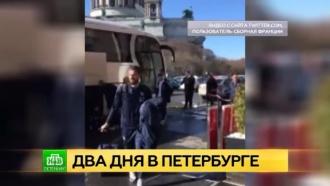 Французским футболистам после игры в Петербурге подарят розовые шапки