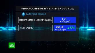 За год выручка <nobr>«Газпром-медиа»</nobr> выросла на 5%