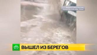 Пискарёвский проспект Петербурга затопило вешними водами