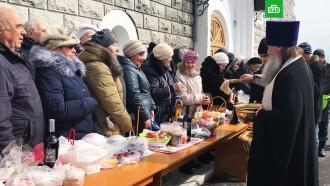 Православные отмечают совпавшее сВеликой субботой Благовещение