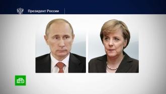 Путин обсудил сМеркель Украину и«Северный поток— 2»