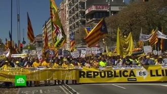 В Барселоне 315 тысяч человек выступили в защиту арестованных каталонских политиков