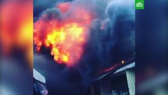 Вцентре Нальчика на рынке произошел крупный пожар