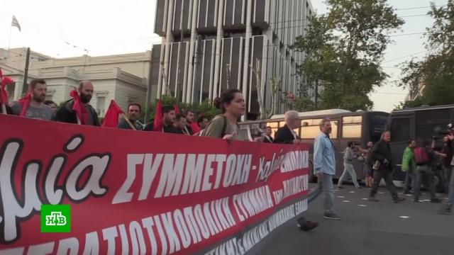 Тысячи жителей Афин вышли на демонстрацию в поддержку Сирии.Сирия, Греция, Великобритания, НАТО, Франция, США, войны и вооруженные конфликты.НТВ.Ru: новости, видео, программы телеканала НТВ