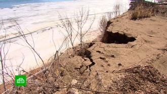 Поселок в&nbsp;Волгоградской области может уйти под воду <nobr>из-за</nobr> разрушения берега