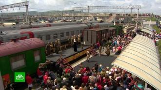 На Кубани встретили поезд времен Великой Отечественной войны