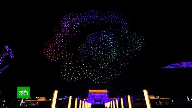 Световое шоу беспилотников в Китае побило рекорд Олимпиады в Пхёнчхане.беспилотники, Китай, рекорды.НТВ.Ru: новости, видео, программы телеканала НТВ