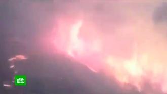 Поезд промчался сквозь горящий лес вХабаровском крае