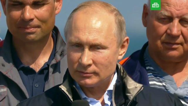 «Чудо свершилось»: Путин назвал историческим событием открытие Крымского моста.Крым, мосты, Путин, строительство.НТВ.Ru: новости, видео, программы телеканала НТВ