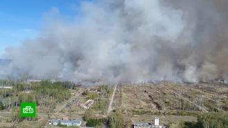 На территории горящего полигона вУдмуртии рвутся пороховые заряды