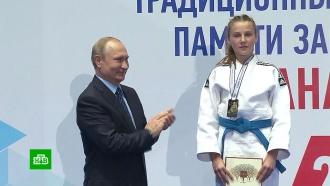 Путин посетил юношеский турнир по дзюдо памяти своего тренера Рахлина