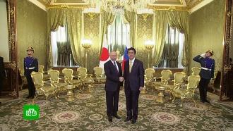 Путин иАбэ обсудили совместные проекты, Курилы имирный договор