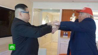 Схватка или рукопожатие: двойники разыграли первую встречу Трампа иКим Чен Ына
