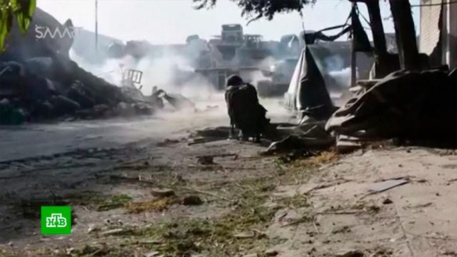 Сирийская армия при поддержке ВСК РФ предотвратила прорыв боевиков внаправлении Пальмиры.Сирия, войны и вооруженные конфликты, терроризм.НТВ.Ru: новости, видео, программы телеканала НТВ
