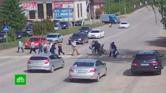 ВУдмуртии мотоциклист сбил ребенка иженщину сколяской
