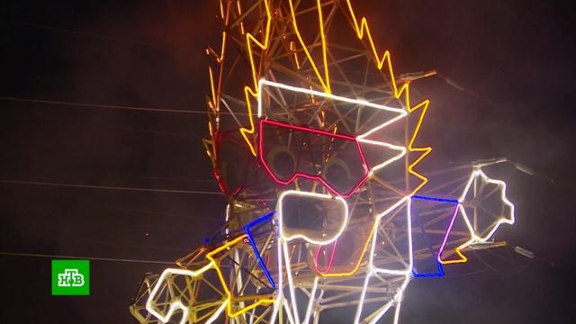 Под Калининградом установили волка Забиваку высотой с 12-этажный дом.Калининград, СМИ, спорт, футбол, энергетика.НТВ.Ru: новости, видео, программы телеканала НТВ