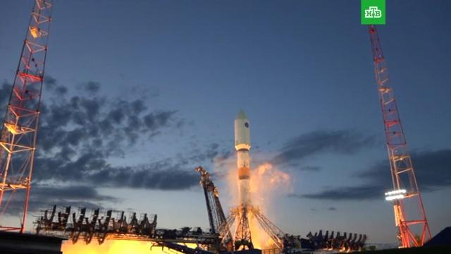 Скосмодрома Плесецк стартовала ракета «Союз» со спутником «Глонасс-М».Плесецк, запуски ракет, космос, спутники.НТВ.Ru: новости, видео, программы телеканала НТВ