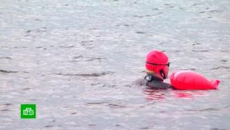 Немецкий юрист переплыл ледяной Кандалакшский залив за 18 часов