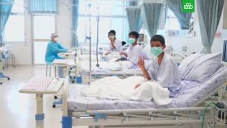 Появилось первое видео из больницы со спасенными из пещеры детьми вТаиланде