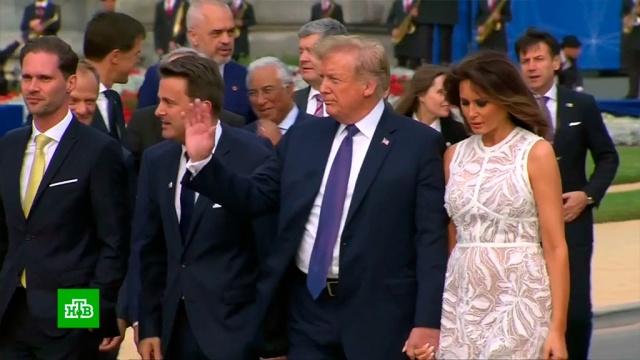 Трамп вносит смуту: первый день саммита НАТО не обошелся без скандалов.Брюссель, Меркель, НАТО, Трамп Дональд, ФРГ.НТВ.Ru: новости, видео, программы телеканала НТВ