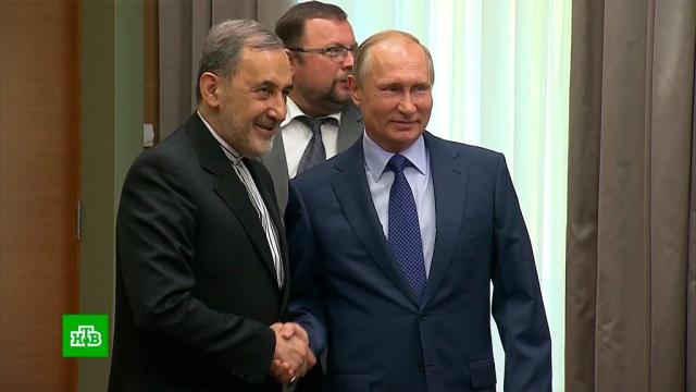 Путин встретился ссоветником верховного лидера Ирана.Иран, Путин, переговоры.НТВ.Ru: новости, видео, программы телеканала НТВ