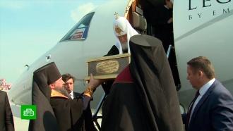Патриарх Кирилл приехал в Екатеринбург в преддверии годовщины расстрела царской семьи