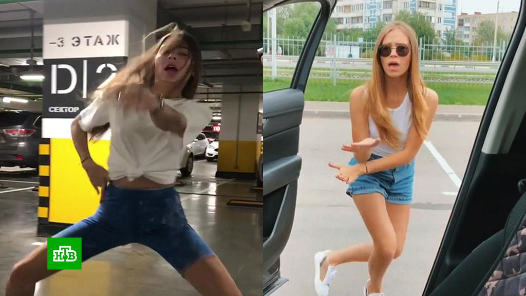 Девушка танцует снимает себя на телефон, русские жены и мужики