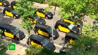 Забастовка таксистов парализовала движение по всей Испании