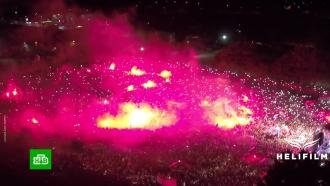 Тренеру футбольной сборной Хорватии в родном городе устроили жаркий прием
