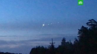 Над Сургутом пронесся метеорит