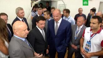 Воробьёв иКарелин приветствовали участников чемпионата России по борьбе