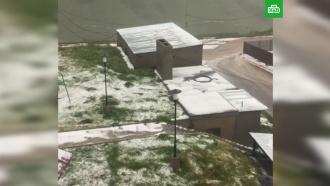 В грузинском Гудаури выпал снег