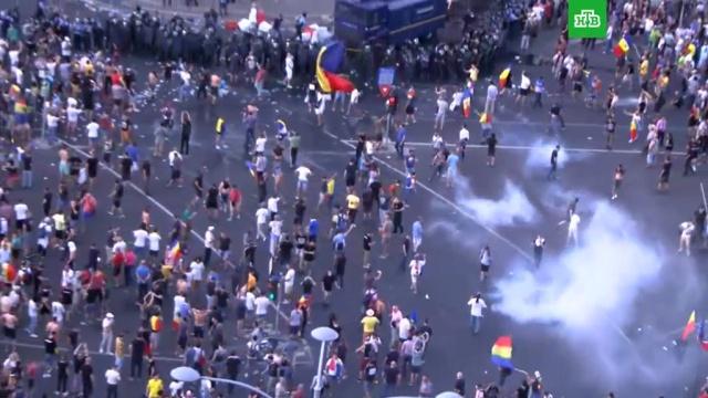 Более 170человек пострадали входе протестов вБухаресте.Румыния, митинги и протесты.НТВ.Ru: новости, видео, программы телеканала НТВ
