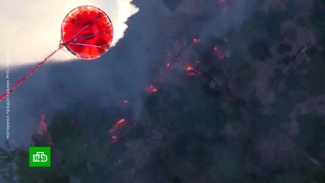 Сильнейший лесной пожар в Крыму тушат с помощью авиации.авиация, Крым, лесные пожары.НТВ.Ru: новости, видео, программы телеканала НТВ