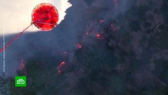 Сильнейший лесной пожар в Крыму тушат с помощью авиации