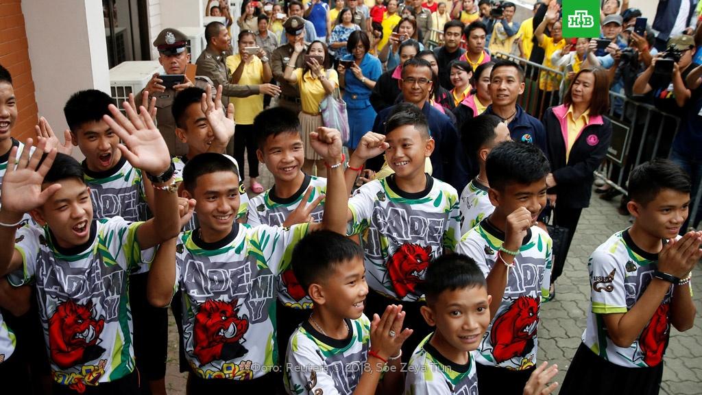 Спасенных из пещеры в Таиланде детей пригласили в «Артек».Таиланд, дети и подростки, пещеры, поисковые операции.НТВ.Ru: новости, видео, программы телеканала НТВ