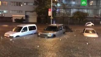 Центр Киева ушел под воду после ливня