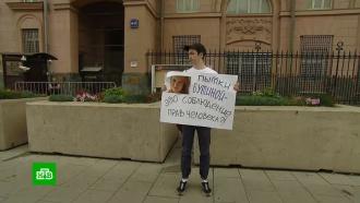Баннер в поддержку арестованной Бутиной вывесили напротив посольства США
