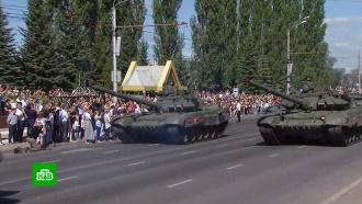 Курск отметил масштабным парадом <nobr>75-летие</nobr> победы вкрупнейшем танковом сражении вистории