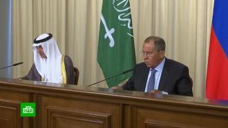 Лавров обсудил ссаудовским коллегой вопрос осирийских беженцах иситуацию сСВПД