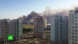 Крупный природный пожар произошел на западе <nobr>Ростова-на-Дону</nobr>