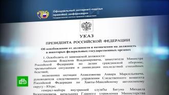 Путин освободил от должностей ряд генералов МВД, МЧС, ФСИН иСК