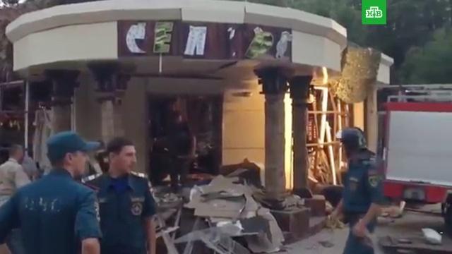 Появилось видео сместа взрыва, врезультате которого погиб глава ДНР Захарченко.ДНР, Украина, убийства и покушения.НТВ.Ru: новости, видео, программы телеканала НТВ
