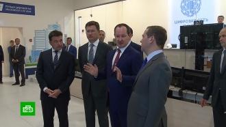 Медведев осмотрел первый цифровой район электросетей в Подмосковье