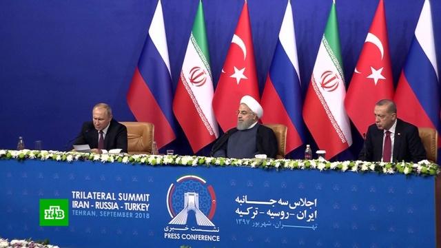 Путин, Эрдоган и Роухани обсудили, как разрубить «идлибов узел».войны и вооруженные конфликты, Ирак, Путин, Сирия, терроризм, Турция.НТВ.Ru: новости, видео, программы телеканала НТВ