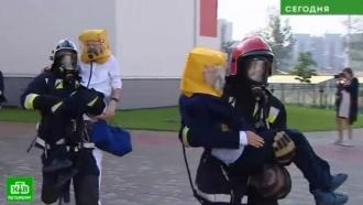 Питерские пожарные преподали урок школьникам