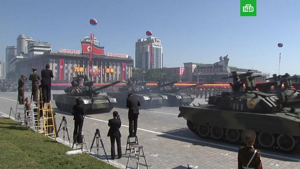 На параде в КНДР впервые за многие годы не показали баллистических ракет.Северная Корея, армии мира, парады, ядерное оружие.НТВ.Ru: новости, видео, программы телеканала НТВ